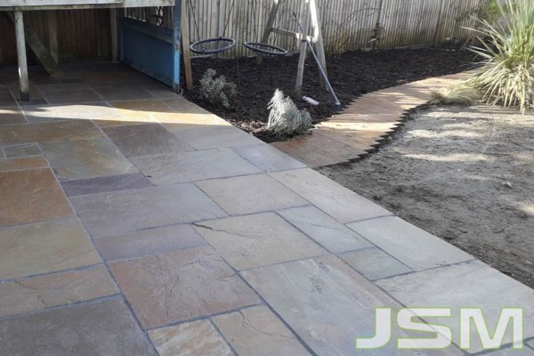 Sandstone Patio by JSM Drives and Patios