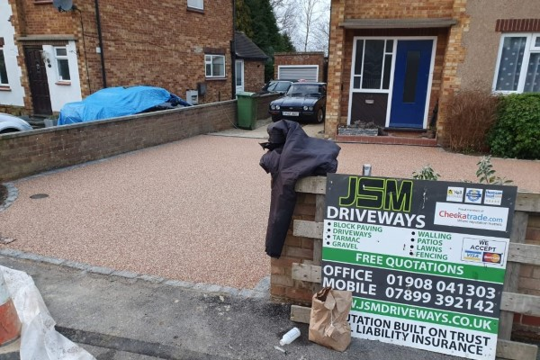 Resin Bound Driveway Laid by JSM Drives and Patios in Milton Keyens